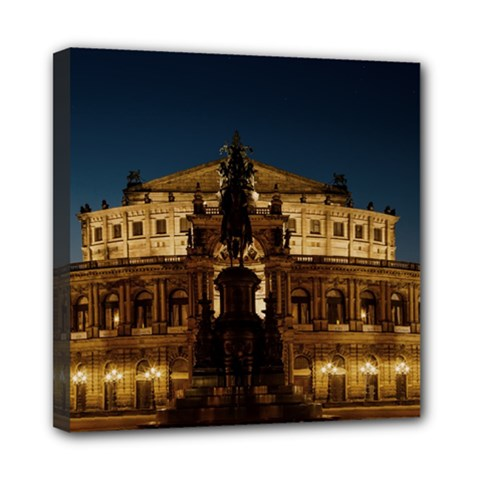 Dresden Semper Opera House Mini Canvas 8  X 8