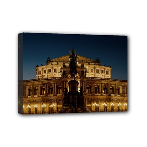 Dresden Semper Opera House Mini Canvas 7  X 5