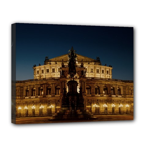Dresden Semper Opera House Canvas 14  X 11