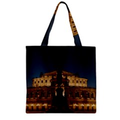 Dresden Semper Opera House Zipper Grocery Tote Bag