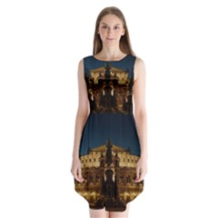 Dresden Semper Opera House Sleeveless Chiffon Dress