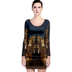 Dresden Semper Opera House Long Sleeve Bodycon Dress