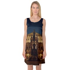 Dresden Semper Opera House Sleeveless Satin Nightdress