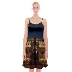 Dresden Semper Opera House Spaghetti Strap Velvet Dress