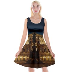 Dresden Semper Opera House Reversible Velvet Sleeveless Dress