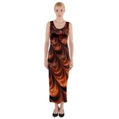 Fractal Mathematics Frax Fitted Maxi Dress