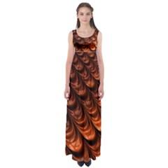 Fractal Mathematics Frax Empire Waist Maxi Dress
