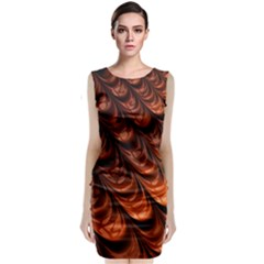 Fractal Mathematics Frax Sleeveless Velvet Midi Dress