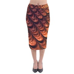 Fractal Mathematics Frax Velvet Midi Pencil Skirt