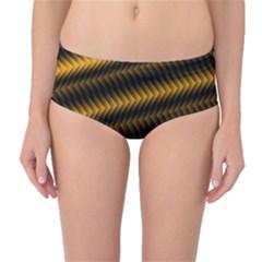 Ornament Stucco Close Pattern Art Mid Waist Bikini Bottoms