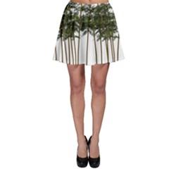 Bamboo Plant Wellness Digital Art Skater Skirt