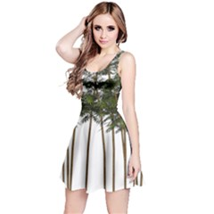 Bamboo Plant Wellness Digital Art Reversible Sleeveless Dress