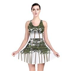 Bamboo Plant Wellness Digital Art Reversible Skater Dress