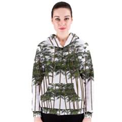Bamboo Plant Wellness Digital Art Women s Zipper Hoodie