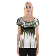 Bamboo Plant Wellness Digital Art Women s Cap Sleeve Top