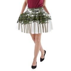 Bamboo Plant Wellness Digital Art A Line Pocket Skirt