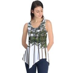 Bamboo Plant Wellness Digital Art Sleeveless Tunic