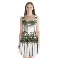 Bamboo Plant Wellness Digital Art Split Back Mini Dress