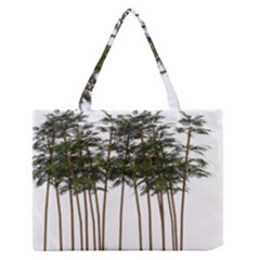 Bamboo Plant Wellness Digital Art Medium Zipper Tote Bag