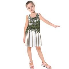 Bamboo Plant Wellness Digital Art Kids  Sleeveless Dress