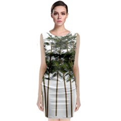 Bamboo Plant Wellness Digital Art Sleeveless Velvet Midi Dress