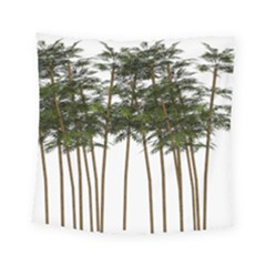 Bamboo Plant Wellness Digital Art Square Tapestry (small)