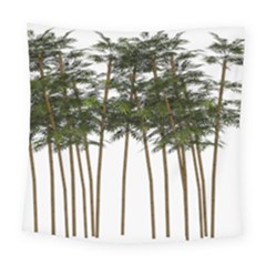Bamboo Plant Wellness Digital Art Square Tapestry (large)