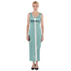 Birds Trees Birch Birch Trees Fitted Maxi Dress