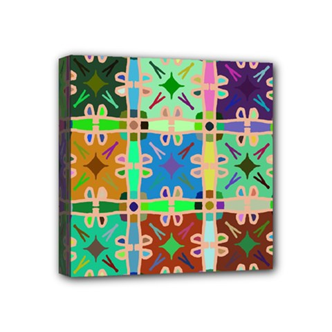 Abstract Pattern Background Design Mini Canvas 4  X 4