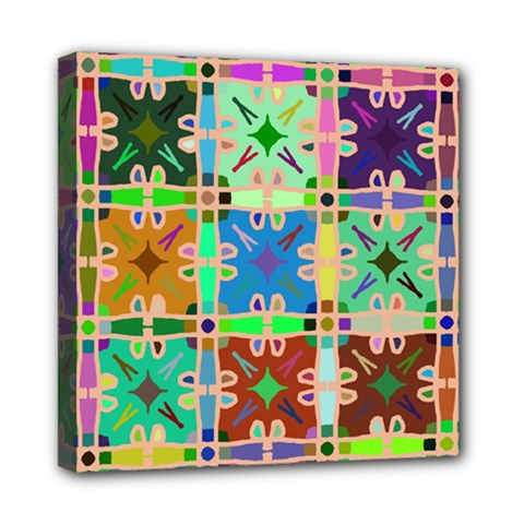Abstract Pattern Background Design Mini Canvas 8  X 8