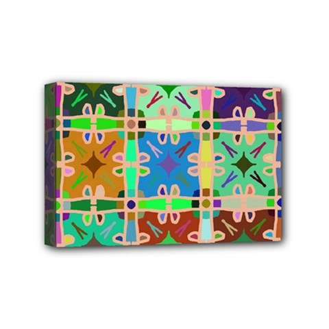 Abstract Pattern Background Design Mini Canvas 6  X 4