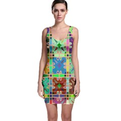 Abstract Pattern Background Design Sleeveless Bodycon Dress