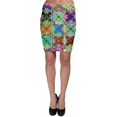 Abstract Pattern Background Design Bodycon Skirt