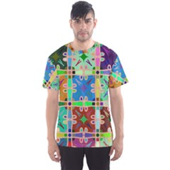 Abstract Pattern Background Design Men s Sport Mesh Tee
