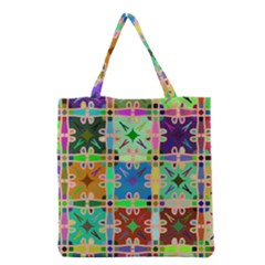 Abstract Pattern Background Design Grocery Tote Bag