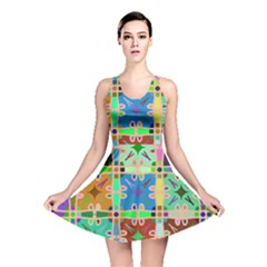 Abstract Pattern Background Design Reversible Skater Dress