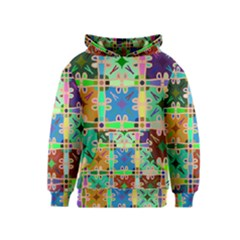Abstract Pattern Background Design Kids  Pullover Hoodie