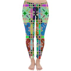 Abstract Pattern Background Design Classic Winter Leggings