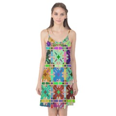 Abstract Pattern Background Design Camis Nightgown