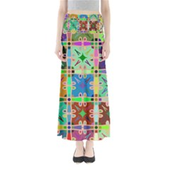 Abstract Pattern Background Design Maxi Skirts