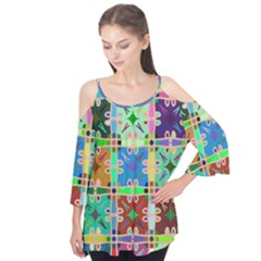 Abstract Pattern Background Design Flutter Tees
