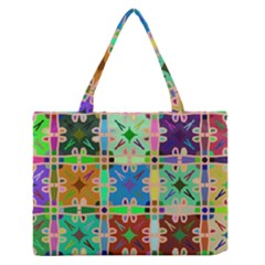 Abstract Pattern Background Design Medium Zipper Tote Bag