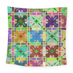 Abstract Pattern Background Design Square Tapestry (large)