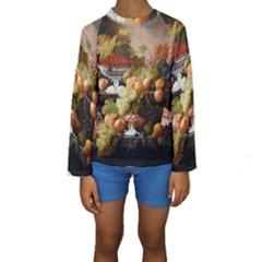 Abundance Of Fruit Severin Roesen Kids  Long Sleeve Swimwear