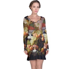 Abundance Of Fruit Severin Roesen Long Sleeve Nightdress