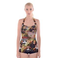 Abundance Of Fruit Severin Roesen Boyleg Halter Swimsuit