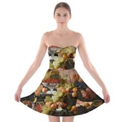 Abundance Of Fruit Severin Roesen Strapless Bra Top Dress