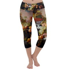 Abundance Of Fruit Severin Roesen Capri Yoga Leggings