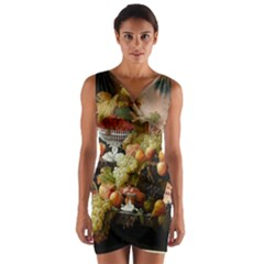Abundance Of Fruit Severin Roesen Wrap Front Bodycon Dress
