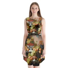 Abundance Of Fruit Severin Roesen Sleeveless Chiffon Dress